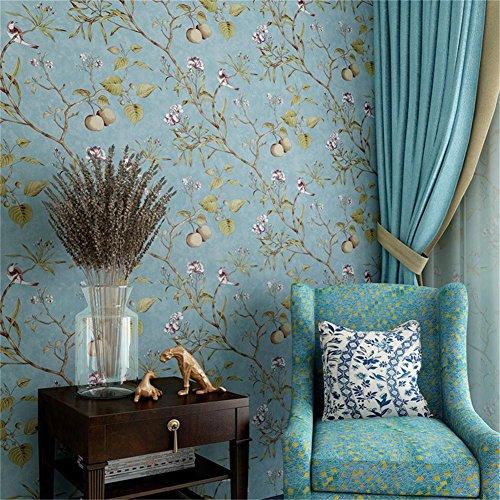 campo-retro-manzano-flores-pajaro-wallpapers-dormitorio-sala-de-estar-tv-fondo-proteccion-del-medio-