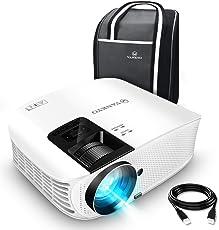 VANKYO Leisure 510 Beamer 3600 Lumen,Full HD Heimkino Beamr mit 200 Zoll Projektionsgröße 5000 Stunde Video Projektor ,Unterstützt Smartphone, Laptop, Pad, Fire TV Stick mit HDMI-Kabel weiß