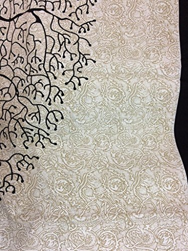 JR Print Oxy Life Tree Double Bedsheet King Size Jaipuri Rajashani 100% Cotton Multicolor - Black,Double