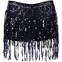 BFD One Tassel Skirt Hot Pants for Ladies and Girls. Elasticated. Nine Colours 3 Sizes. Sequin Tassels Hand Wash…