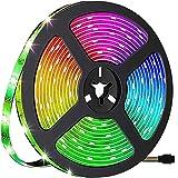 Eleadsouq LED Strip Light Smart WiFi 5 Meters 300 LEDs RGB Color Smartphone APP Control Home Decorative DIY Lights Colorful T