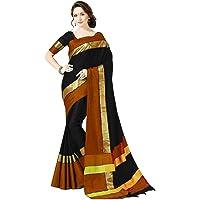 PERFECTBLUE Women`s Cotton Silk saree with Blouse Piece (VisvaVariation)