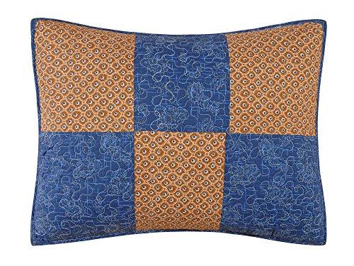 C & F Unternehmen Bridget Sham, Standard, blau/braun -