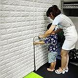 3D Papel pintado ladrillo blanco,pegatinas de pared de ladrillo de imitación, DIY etiqueta engomada...