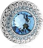 Swarovski Damen-Charm Metall Kristall Solitaire Clip blau 1.4 x 1.4 cm 5002662