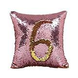Sirène à paillettes Housse de coussin magique bicolores changent Taies d'oreiller, #7