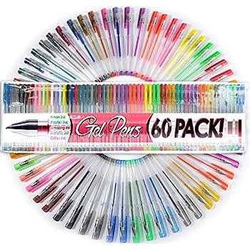 60 unique colors gel ink pens new colors adult coloring pens top quality pens