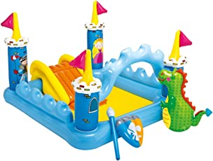 """Intex Fantasy Castle Inflatable Play Center, 73"""" X 60"""" X 42"""", for Ages 2+ (178 lbs, Beige)"""