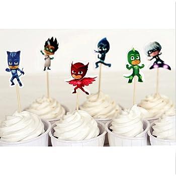 2 D/öschen Zuckerdeko 24 Dekoscheiben Paw-Patrol Backset Cupcake Muffindeko oder Cupcakedekoration 24 Muffinf/örmchen super als Tortendeko Muffin Deko Set
