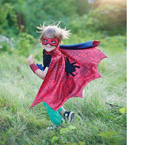 Spider Cape Set with Mask & Wristbands, Small Size by Creative Education (Spider-kostüm Kind)
