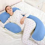 Novo 3Kg Pp Cotton Comfort Pillow, Blue - 145X80X25Cm, Free Size