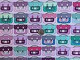 Multi Farbe Schultasche Kinder Kinderzimmer Print 100% Baumwolle Stoff Material für Patchwork, Nähen, Basteln, Schneidern breit 147,3cm Meterware