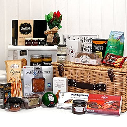 Traditional Gourmet Gift Hamper Basket with 25 Food Items - Gift ideas