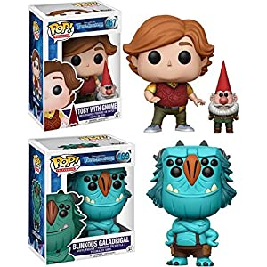 Funko POP Trollhunters Toby with Gnome Blinkous Galadrigal Stylized Vinyl Figure Bundle Set NEW
