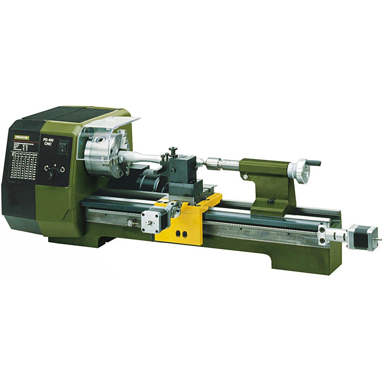 Proxxon Präzisionsdrehmaschine PD 400/CNC (mit Steuerung, 870 W, Motordrehzahl 1400/2800 /min, für Links-+ Rechtsgewinde…