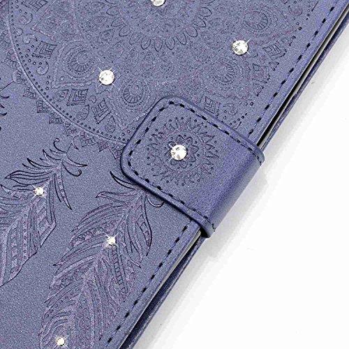 Sunnycase® Etui Housse Élégant Samsung Galaxy Grand Prime SM-G530 / SM-G530FZ Coque Étui Livre Style Portefeuille Wallet Case Couvrir Swag Mince Synthetique Cuir Cas Shell Téléphone Protection Protect Pattern 03
