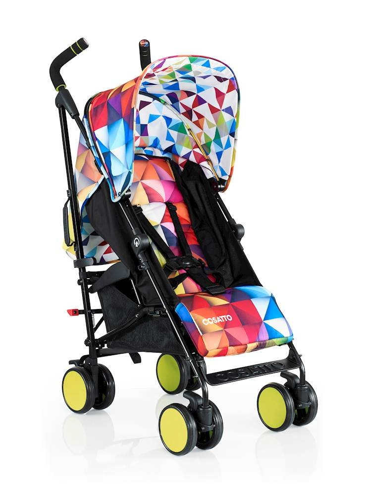 Cosatto Supa Go Stroller (Spectroluxe), suitable from birth, 7 kg Cosatto Compact from-birth pushchair, carries up to 25kg child, so you can use it for longer This storage superstar is a transport-friendly compact umbrella folder and fits in smaller cars Upf100+ extendable hood plus rain cover 1