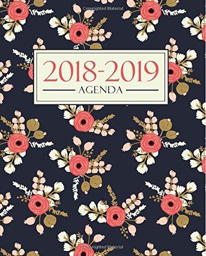 Agenda 2018-2019: 19x23cm : Agenda 2018 2019 semainier : Motif floral 3391 por Papeterie Bleu