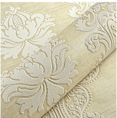 PENGFEI Continental 3D stereo wallpaper thick non-woven cloth wallpaper bedroom living room TV wall paper ,9501 background light