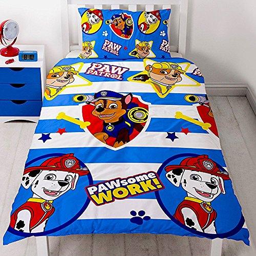 PAW Patrol Kinder Bettwäsche Mikrofaser 2-teilige Garnitur für Kinderbett Bettbezug und Kissenbezug