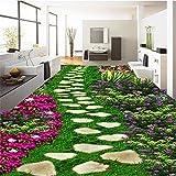 Suelo 3D Personalizado Murales Hd Parque Jardín Piedra Flores Césped Pintura Dormitorio Sala De...