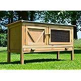 Zooprimus abris cages pour petits animaux grande cage clapier extérieur en bois pour lapins modèle 024 Hasi