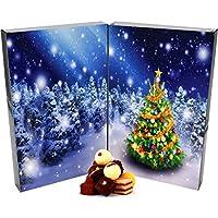 Hallingers Adventskalender edler Pralinenkalender Buch Zauberwald | DoubleKarton | 300g