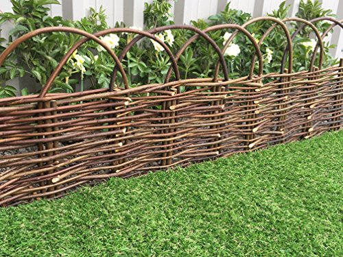 61sUXav4YZL - BEST BUY# Marko Gardening Rigid Arched Willow Garden Edging 1M Panels Border Lawn Hurdle Pathway Drives (10) Reviews