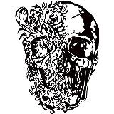 IncredibleWallDecals MN211 Wandaufkleber mit Totenkopf-Motiv, Vinyl