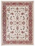 We Love Rugs - Carpeto Traditioneller Klassischer Teppich für Ihre Wohnzimmer - Weinrot Beige - Perser Orientalisches Antik Ziegler Ornamente Top Qualität Pflegeleicht AYLA 120 x 170 cm Klein
