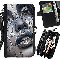 Black-Dwarf ( Arlecchino labbra sensuali Bacio Rosa ) HTC Desire 828 Dual Sim Portafoglio In Pelle Della Carta Di Credito Fessure Pu Holster Cover In Pelle Case