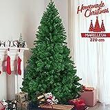 Bakaji Albero di Natale MARILLEVA verde 270 cm Ecologico PVC, Base a Croce in ferro, 2138 Rami innesto ad uncino, Aghi Anti Caduta, Foltissimo