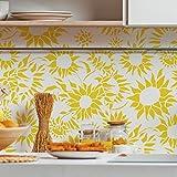 Sonnenblume dekorative Wandschablone - Schablonen für wände - Maler Schablonen