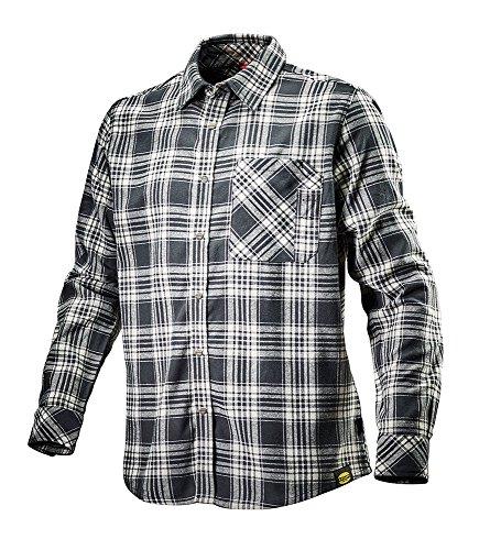 Schwarz Weiß Karo Check Flanell (Flanellhemd SHIRT CHECK von DIADORA, Arbeitshemd mit Karomuster schwarz L)