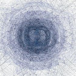 Arte fractal. Lienzo de medidas 91 x 91 cm.