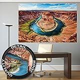 Un papel pintado fotográfico con la curva de la herradura del Gran Canyon – Colorado River cerca de la ciudad de Page en el Estado de Arizona – decoración mural XXL by GREAT ART (140 x 100 cm)