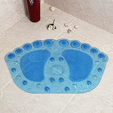 Alfombra de Baño antideslizante con un cuarto de baño ducha cupule esteras bañera ducha mat -36*58cm azul cielo