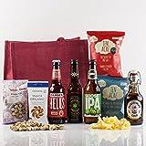 Natures Hampers Cesta de Regalo Cervezas Artesanales Clásicas y Snacks – Caja de Regalo de Cervezas Artesanales de Lujo – Regalo de Cervezas y Snacks - Set Regalo de Cervezas Clásicas – Vegetariano y Vegano - Regalo para amantes de la cerveza - Cumpleaños para él - Cumpleaños para ella – Regalos de Navidad – Regalo de Retiro