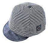 DEMU Baby Kleinkinder Fischerhut Strandhut Sommerhut Sonnenschutz Kappe Mütze (Schiebermütze Blau, Hut Umfang 46cm)