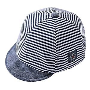 Cloud Kids - Sombrero para bebé o niña, protección contra el sol, diseño de rayas, estrellas, verano y sol 10