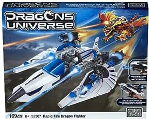 Megabloks - 95207 - Jeu de construction - Dragons Universe - 168 pcs - Rapid Fire Dragon Fighter