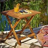 Deuba Gartentisch klappbar aus Akazienholz - 2