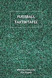 Fussball Taktiktafel: 6x9 (ähnlich A5) Notizbuch für Taktiktafel Liebhaber I Platz für bis zu 100 Spielsysteme und Taktiken I Perfekt für Fußball Trainer im Jugendbereich