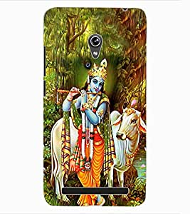 ColourCraft Lord Krishna Design Back Case Cover for ASUS ZENFONE 6 A600CG