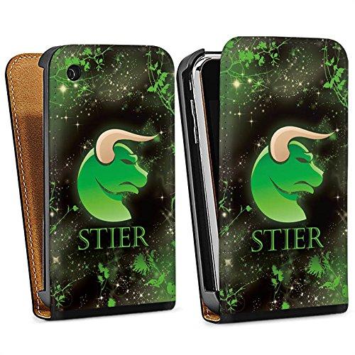 Apple iPhone 5s Housse Étui Protection Coque Signes du zodiaque Taureau Astrologie Sac Downflip noir