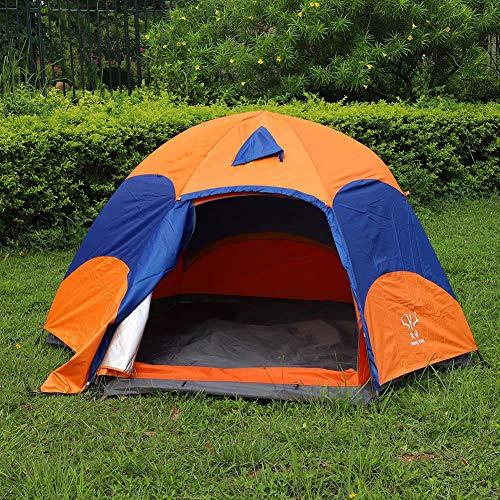 Eboxer 5-8 Tenda da esterno per esterni, Tenda a cupola leggera, Tenda da campeggio per 5-8 persone, Tenda a rete impermeabile con rete a convezione ventilata per finestre