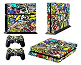 GameXcel ® Sony PlayStation 4 Console Skin Kit is printed with super-high resolution graphics and ultra high gloss finish. It protects your devices from scratching, fading, and peeling. Our patented advanced air-release vinyl guarantees a perfect ins...