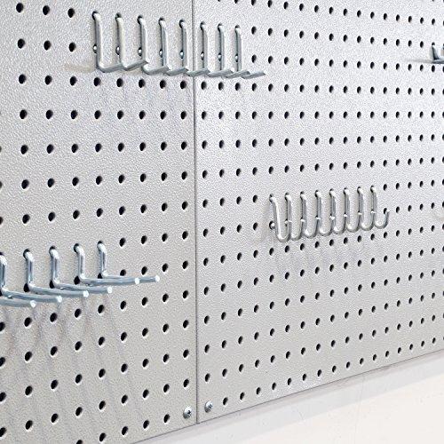 Seville Classics UHD20224 Werkzeug Lochwand mit 46 Haken, Metall pulverbeschichtet, 3-teilig, 182,9 x 60,9 cm, grau - 6