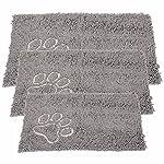 Bunty Soft Microfibre Pet Dog Puppy Cat Mat Bed Doormat Absorbant Muddy Wet Paws - X-Small - 46.5cm x 31cm 4