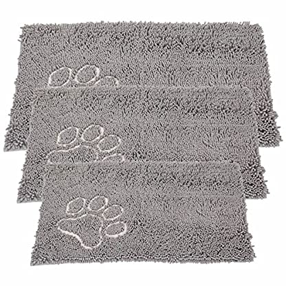 Bunty Soft Microfibre Pet Dog Puppy Cat Mat Bed Doormat Absorbant Muddy Wet Paws - X-Small - 46.5cm x 31cm 1